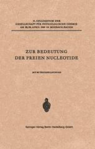 Zur Bedeutung der Freien Nucleotide