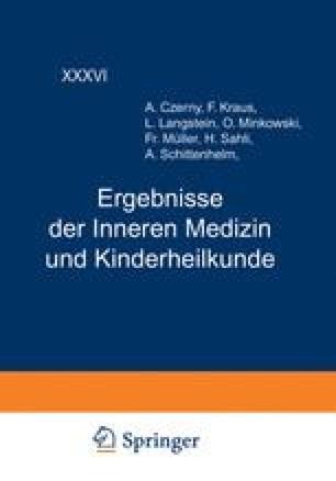 Ergebnisse der Inneren Medizin und Kinderheilkunde