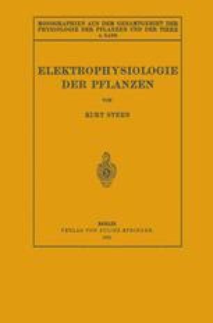 Elektrophysiologie der Pflanzen