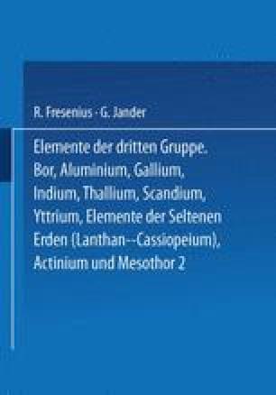 Elemente der Dritten Gruppe