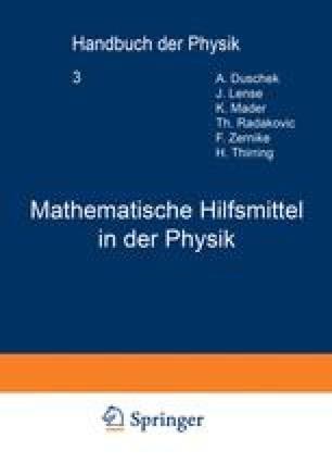 Mathematische Hilfsmittel in der Physik