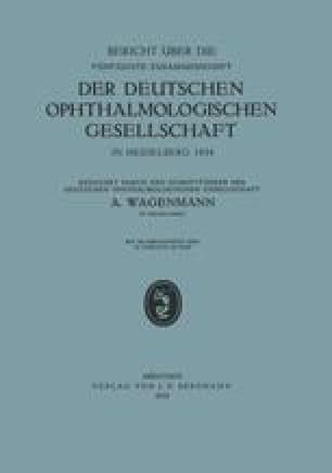 Bericht über die Fünfzigste Zusammenkunft der Deutschen Ophthalmologischen Gesellschaft in Heidelberg 1934