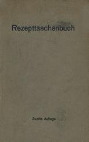Rezepttaschenbuch (nebst Anhang)