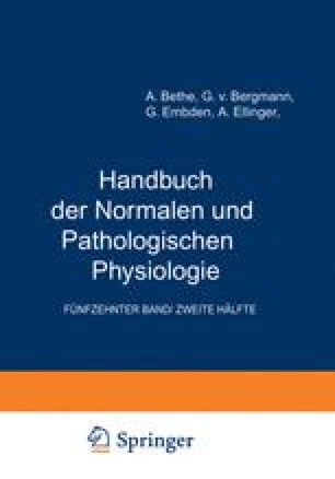 Handbuch der Normalen und Pathologischen Physiologie