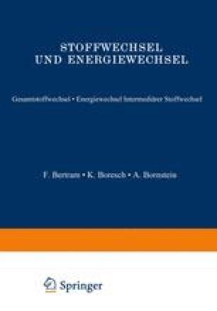 Stoffwechsel und Energiewechsel