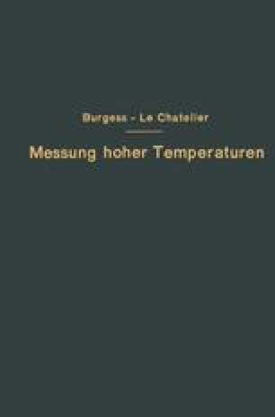 Die Messung hoher Temperaturen