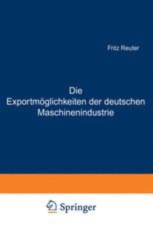 Die Exportmöglichkeiten der deutschen Maschinenindustrie