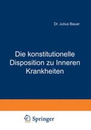 Die konstitutionelle Disposition zu Inneren Krankheiten