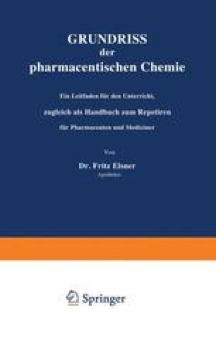 Grundriss der pharmaceutischen Chemie