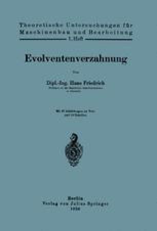 Evolventenverzahnung