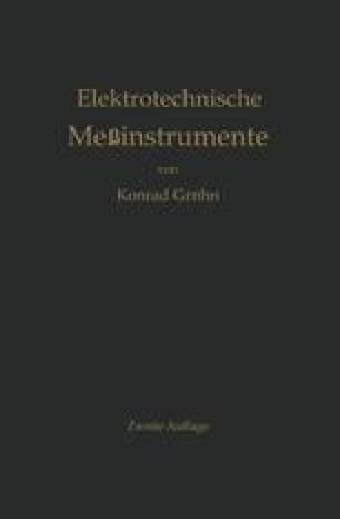Elektrotechnische Meßinstrumente