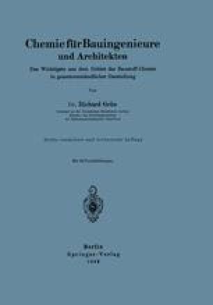 Chemie für Bauingenieure und Architekten