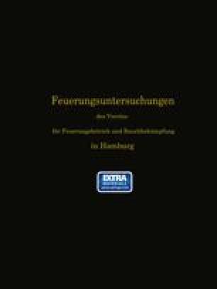 Feuerungsuntersuchungen des Vereins für Feuerungsbetrieb und Rauchbekämpfung in Hamburg