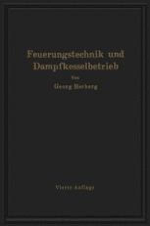Handbuch der Feuerungstechnik und des Dampfkesselbetriebes