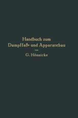 Handbuch zum Dampffaß- und Apparatebau