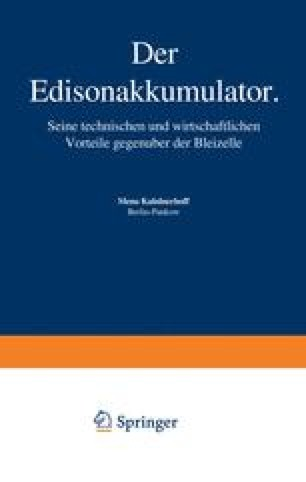 Der Edisonakkumulator