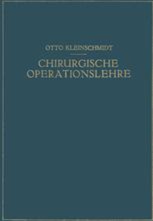 Chirurgische Operationslehre