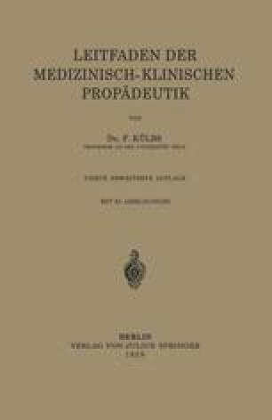 Leitfaden Der Medizinisch-Klinischen Propädeutik