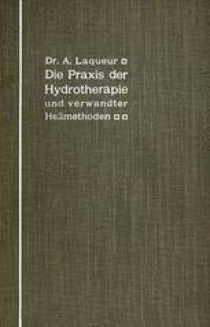 Die Praxis der Hydrotherapie und verwandter Heilmethoden