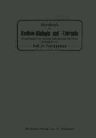 Handbuch der Radium-Biologie und Therapie