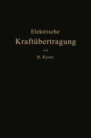 Die elektrische Kraftübertragung