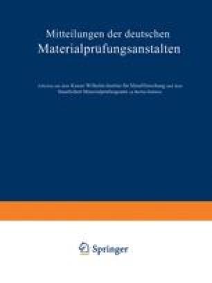 Mitteilungen der deutschen Materialprüfungsanstalten