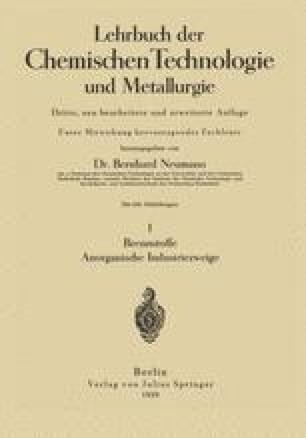 Lehrbuch der Chemischen Technologie und Metallurgie