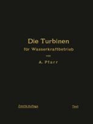 Die Turbinen für Wasserkraftbetrieb