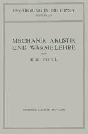 Einführung in die Mechanik, Akustik und Wärmelehre