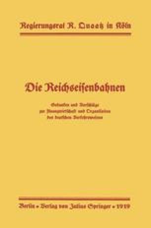 Die Reichseisenbahnen
