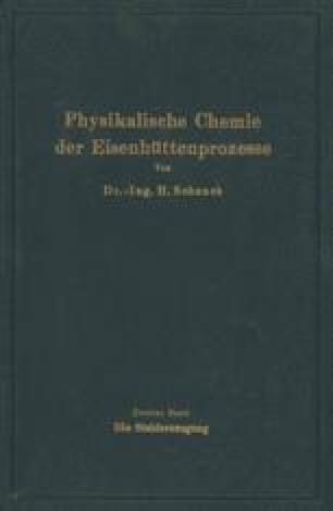 Einführung in die physikalische Chemie der Eisenhüttenprozesse
