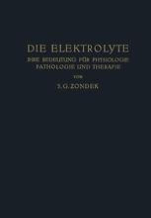 Die Elektrolyte