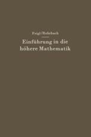 Einführung in die höhere Mathematik