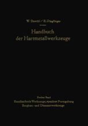 Handbuch der Hartmetallwerkzeuge