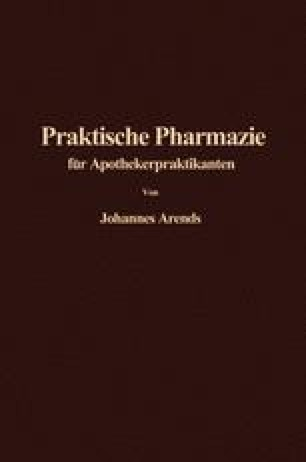 Einführung in die Praktische Pharmazie für Apothekerpraktikanten