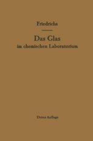 Das Glas im chemischen Laboratorium