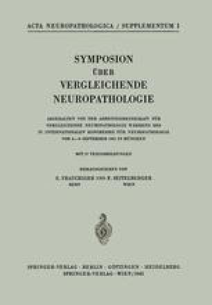 Symposion Über Vergleichende Neuropathologie