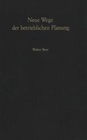 Neue Wege der betrieblichen Planung