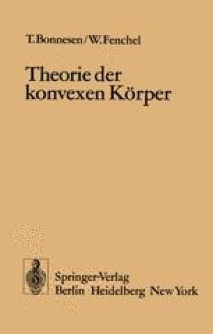 Theorie der konvexen Körper