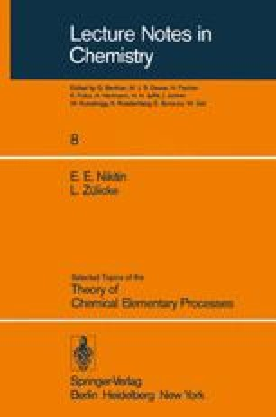 Selected Topics of the Theory of Chemical Elementary Processes