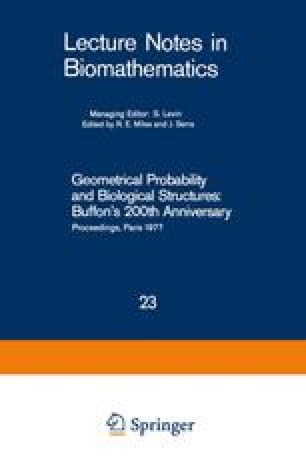 Geometrical Probability and Biological Structures: Buffon's 200th Anniversary