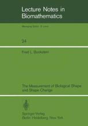 The Measurement of Biological Shape and Shape Change