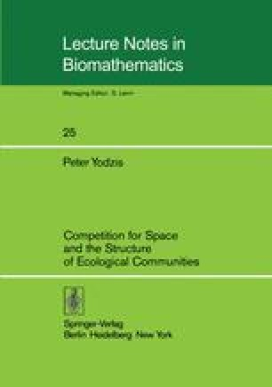 Competition for Space and the Structure of Ecological Communities