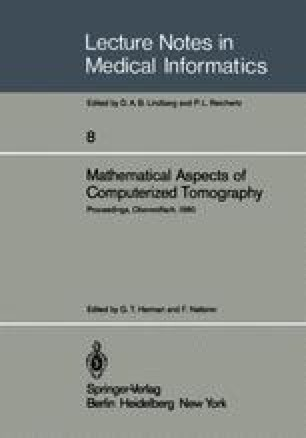 Mathematical Aspects of Computerized Tomography