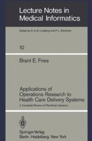 Applications of Operations Research to Health Care Delivery Systems