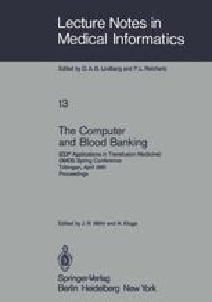 The Computer and Blood Banking