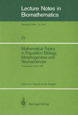 Mathematical Topics in Population Biology, Morphogenesis and Neurosciences