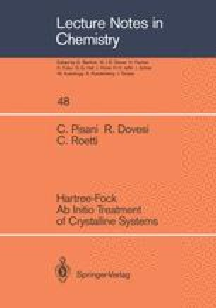 Hartree-Fock Ab Initio Treatment of Crystalline Systems