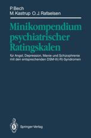 Minikompendium psychiatrischer Ratingskalen