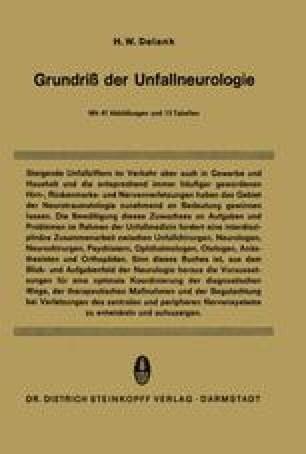 Grundriß der Unfallneurologie